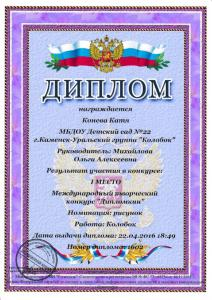 Конева Катя дипломкин